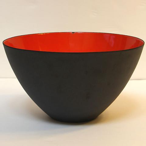 KRENIT BLACK RED LARGE BOWL