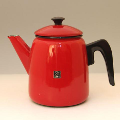 SWEDEN KOCKUMS ENAMEL RED POT