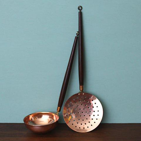 DENMARK COPPER/ROSE WOOD KITCHEN TOOL SET