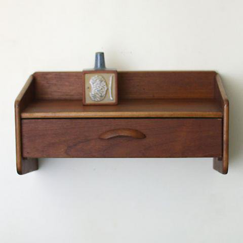 DENMARK TEAK WALL SHELF