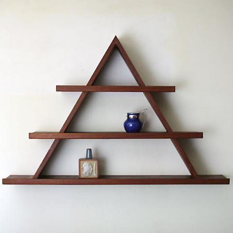 DENMARK SOLID THICK TEAK TRIANGLE SHELF