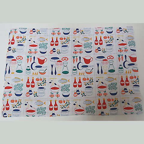 SWEDEN KITCHEN TOOLS AND FOODS CURTAIN
