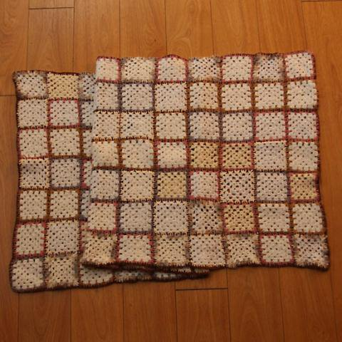 DENMARK WHITE BASE GRANNY BLANKET