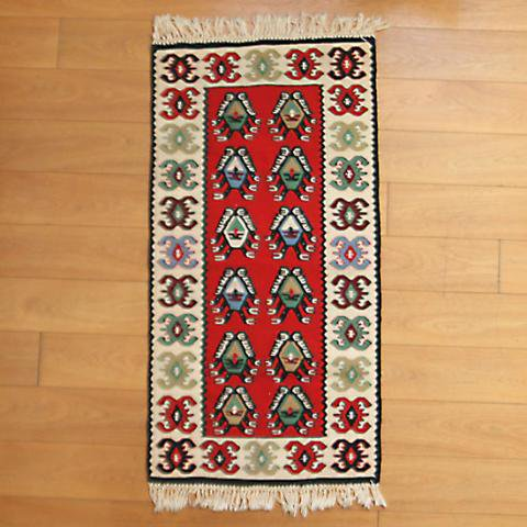 UNKNOWN CUTE KILIM FROM DENMARK
