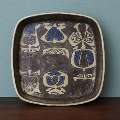 ROYAL COPENHAGEN Nils Thorsson BACA BROWN/BLUE TRAY