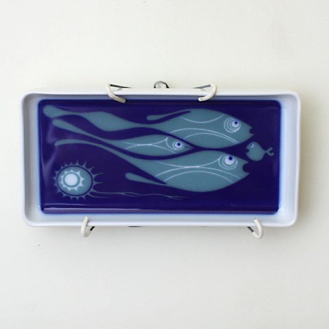 DENMARK B&G 3 BLUE FISHES TRAY