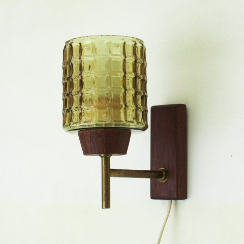 Denmark solid teakamber glass shade wall lamp denmark solid teakamber glass shade wall lamp mozeypictures Image collections