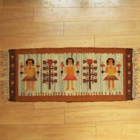 DANISH DESIGN CUTE GIRL KILIM FROM POLAND