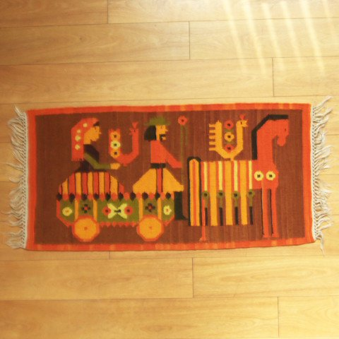 DANISH CUTE DESIGN KILIM FROM POLAND ?