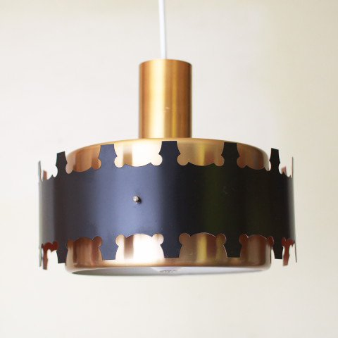 DENMARK BRASS/BLACK COVERED LAMP