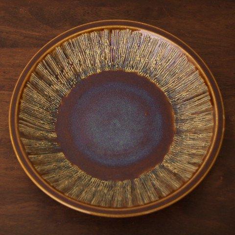 DENMARK SOHOLM BROWN/BLUE LAEGE PLATE