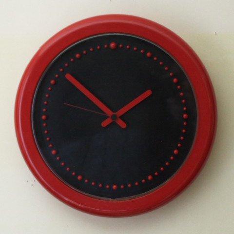 ITALY REXITE Barbieri E Marianelli RED PLASTIC CLOCK