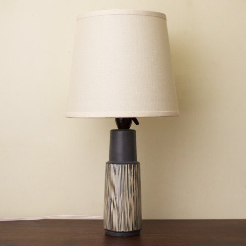 DENMARK GREY/WHITE LINE TABLE LAMP