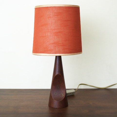 DENMARK SOLID TEAK ORGANIC FORM TABLE LAMP