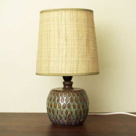 DENMARK SOHOLM BLUE/BROWN PATTERN TABLE LAMP