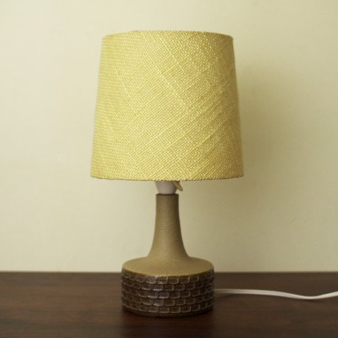 DENMARK SOHOLM BROWN PATTERN TABLE LAMP