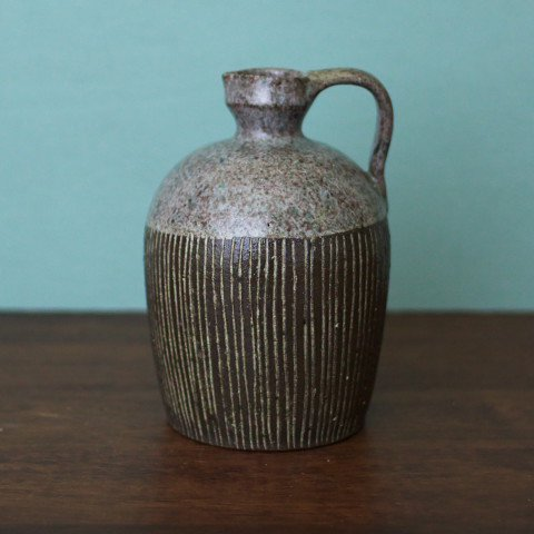 DENMARK HAND MADE GREY LINE VASE
