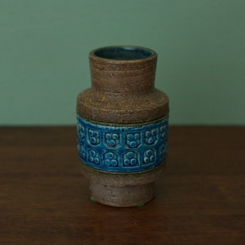 ITALY BROWN/BLUE SMALL VASE