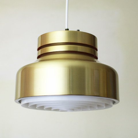 DENMARK BRASS/ORANGE/LOUVER SHADES LAMP