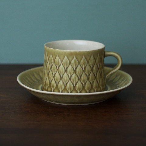 DENMARK KRONJYDEN J.H.Q RELIEF COFFEE CUP&SAUCER