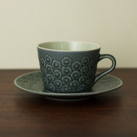 DENMARK KRONJYDEN J.H.Q BLA AZUR COFFEE CUP&SAUCER