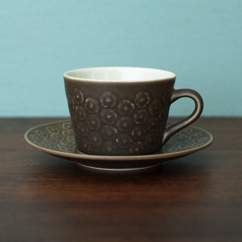 DENMARK KRONJYDEN J.H.Q BRUN AZUR COFFEE CUP&SAUCER