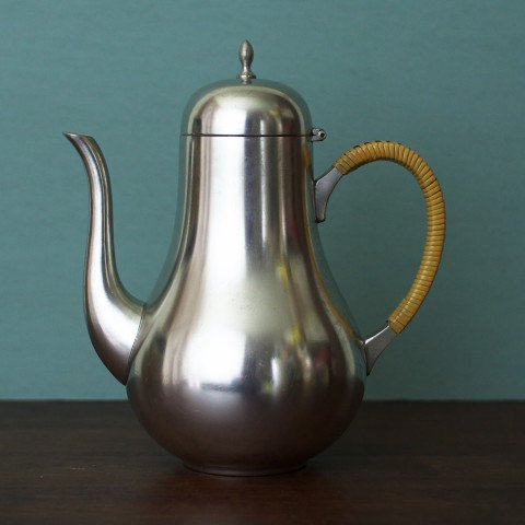 HOLLAND C&K PEWTER TALL TEA POT