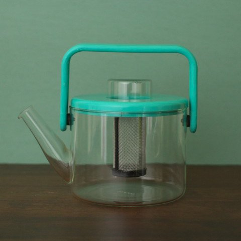 DENMARK bodum MINT GREEN GLASS TEA POT