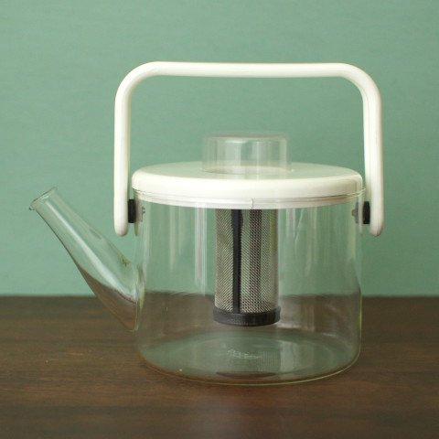 DENMARK bodum MILKY WHITE GLASS TEA POT