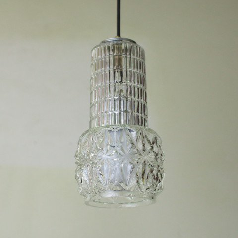 DENMARK CLEAR PRESSING GLASS LAMP