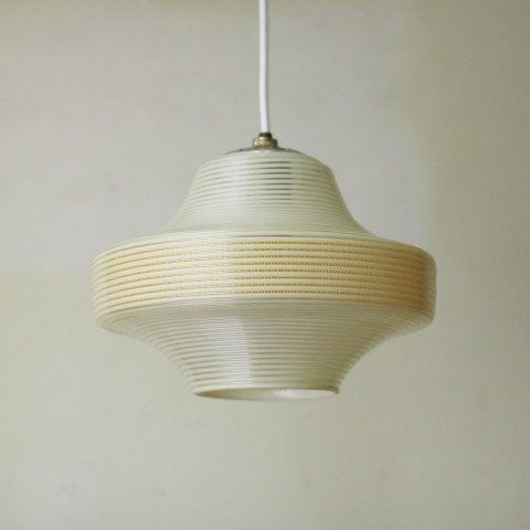 DENMARK MILKY WHITE/YELLOW PLASTIC LAMP