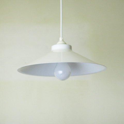 DENMARK MILKY WHITE ENAMEL LAMP