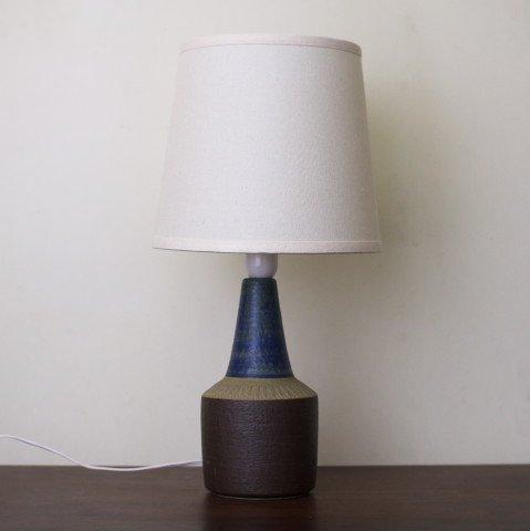 DENMARK SOHOLM BROWN/BLUE CERAMIC TABLE LAMP