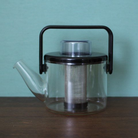 DENMARK BODUM BLACK GLASS SMALL TEA POT