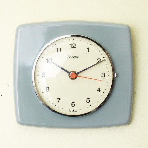 WEST GERMANY Senator GREY CERAMIC CLOCK