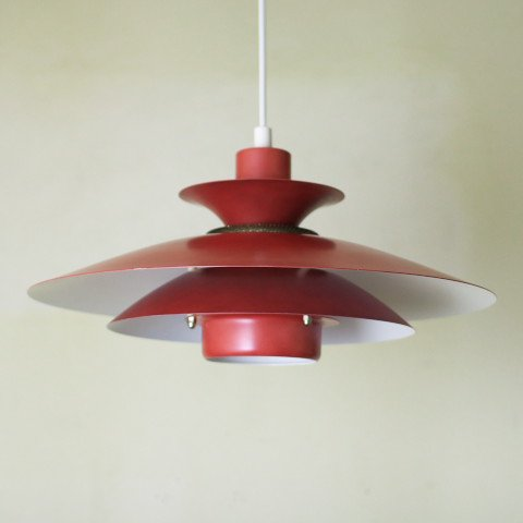 DENMARK RED 4 SHADE LAMP