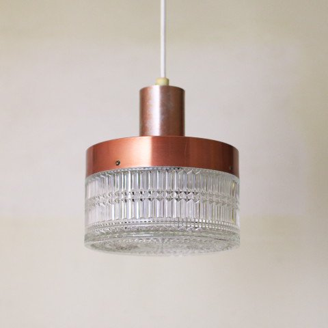 DENMARK COPPER/GLASS SHADE LAMP