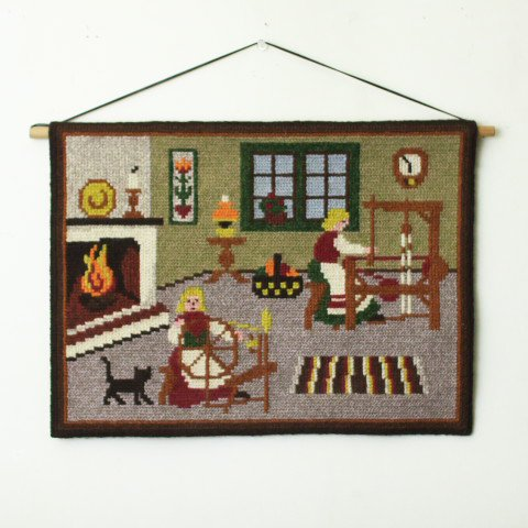 SWEDEN CUTE WOOVEN ROOM TAPESTRY