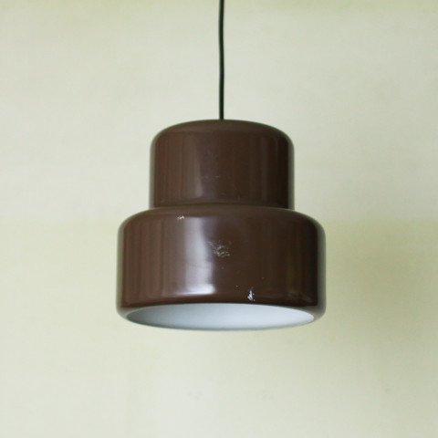DENMARK FOG&MORUP DK.BROWN POKER LAMP (A)