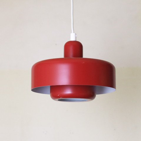 DENMARK RED 2 SHADES LAMP (A)