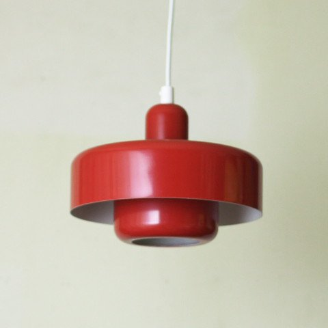 DENMARK RED 2 SHADES LAMP (B)