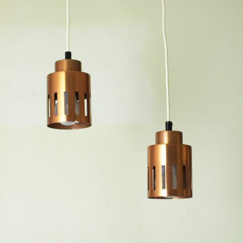 DENMARK COPPER SMALL SHADE LAMP SET