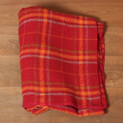 DENMARK RED CHECK BLANKET