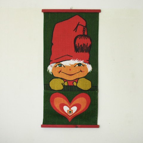 SWEDEN CUTE TOMTE W/POCKET TAPESTRY