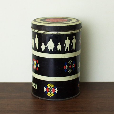 DENMARK BLACK CUTE MOTIF STEEL CAN