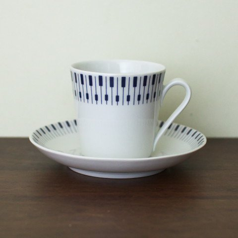 DAN-ILD DENMARK PIANO PATTERN COFFEE C/S