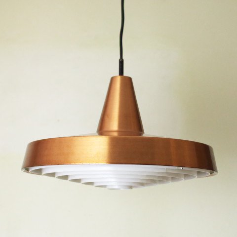 DENMARK SOLID COPPER/PLASTIC LOUVER LAMP