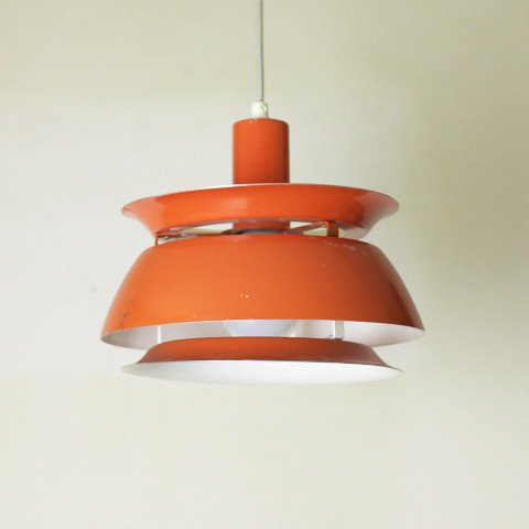 DENMARK ORANGE/MILKY WHITE 3SHADES LAMP