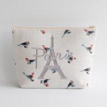 Parisのお土産 キャンバスポーチ L bird