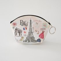 Parisのお土産 ビニールポーチ S (B)